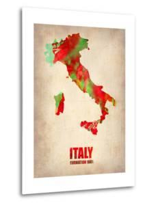 Italy Watercolor Map by NaxArt