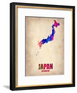 Japan Watercolor Map by NaxArt