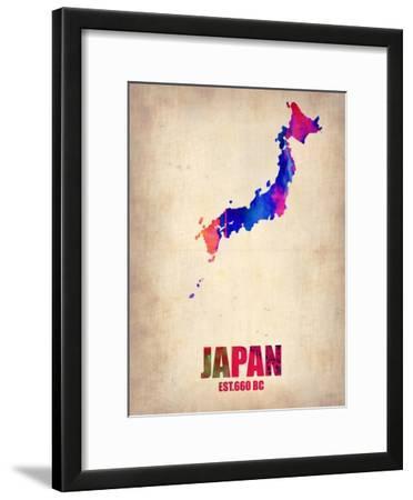 Japan Watercolor Map
