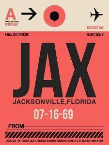JAX Jacksonville Luggage Tag I by NaxArt