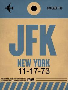 JFK New York Luggage Tag 2 by NaxArt