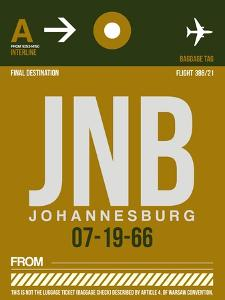 JNB Johannesburg Luggage Tag 1 by NaxArt