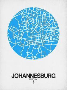 Johannesburg Street Map Blue by NaxArt