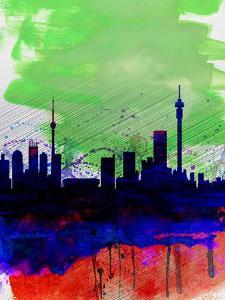 Johannesburg Watercolor Skyline by NaxArt