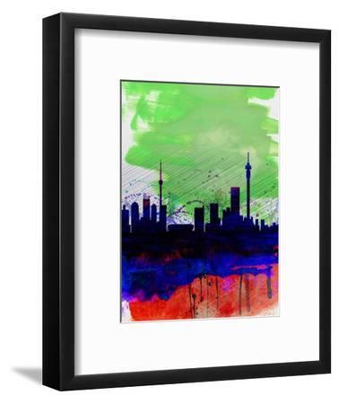 Johannesburg Watercolor Skyline