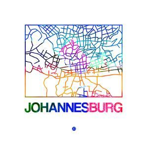 Johannesburg Watercolor Street Map by NaxArt