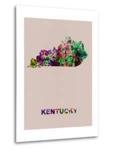 Kentucky Color Splatter Map by NaxArt