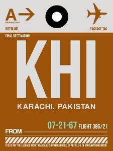 KHI Karachi Luggage Tag II by NaxArt