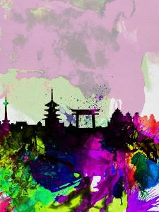 Kyoto Watercolor Skyline by NaxArt