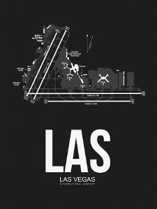 LAS Las Vegas Airport Black by NaxArt