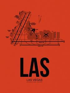 LAS Las Vegas Airport Orange by NaxArt