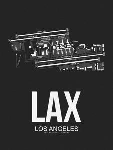LAX Los Angeles Airport Black by NaxArt