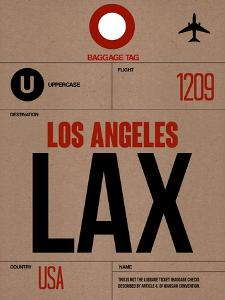 LAX Los Angeles Luggage Tag 1 by NaxArt