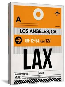 LAX Los Angeles Luggage Tag 2 by NaxArt