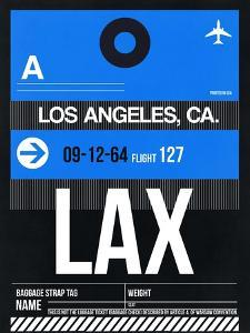 LAX Los Angeles Luggage Tag 3 by NaxArt