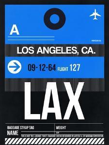 LAX Los Angeles Luggage Tag 3 by NaxArt
