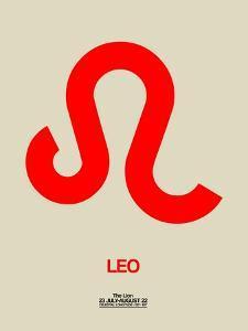 Leo Zodiac Sign Red by NaxArt