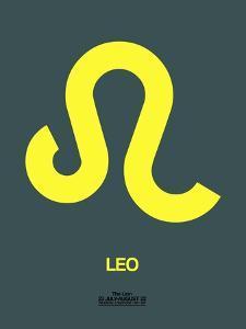 Leo Zodiac Sign Yellow by NaxArt