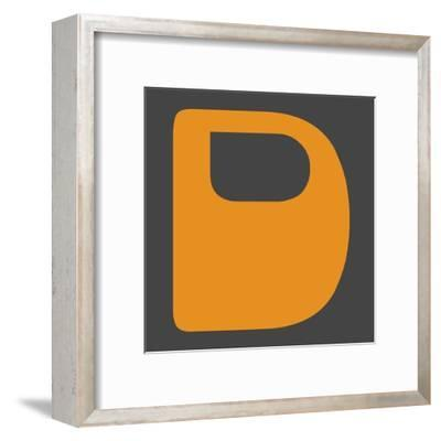 Letter D Yellow