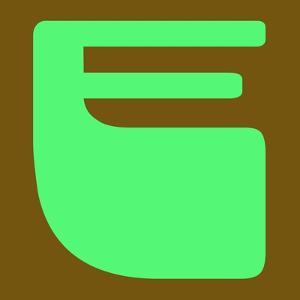 Letter E Green by NaxArt