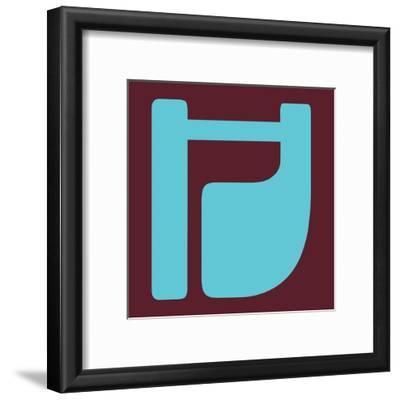 Letter H Blue
