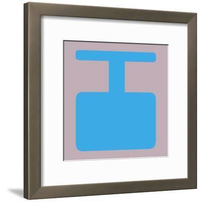 Letter I Blue