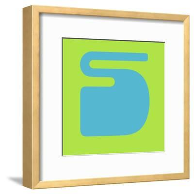 Letter S Blue