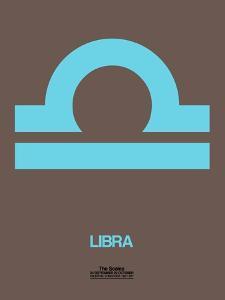 Libra Zodiac Sign Blue by NaxArt
