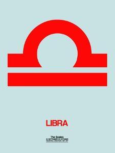 Libra Zodiac Sign Red by NaxArt
