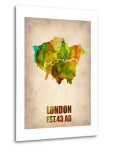 London Watercolor Map 1 by NaxArt