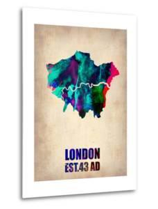 London Watercolor Map 2 by NaxArt