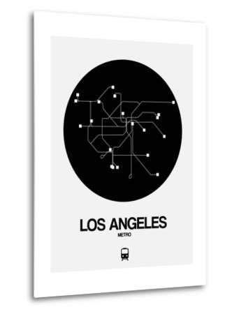 Los Angeles Black Subway Map
