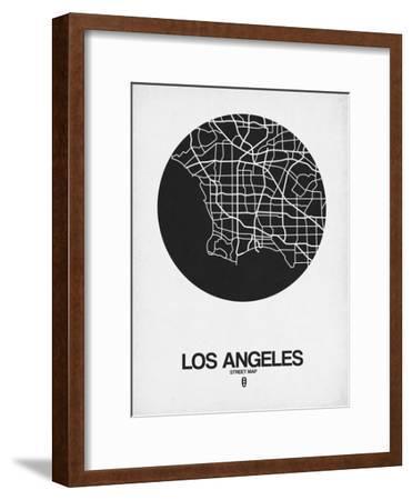 Los Angeles Street Map Black on White