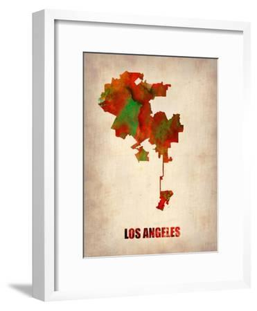 Los Angeles Watercolor Map