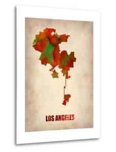 Los Angeles Watercolor Map by NaxArt