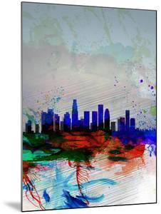 Los Angeles Watercolor Skyline 1 by NaxArt