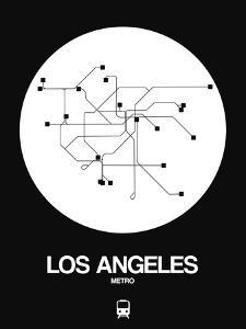 Los Angeles White Subway Map by NaxArt