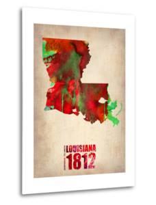 Louisiana Watercolor Map by NaxArt