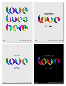 Love Phrase Poster Set by NaxArt