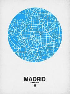 Madrid Street Map Blue by NaxArt