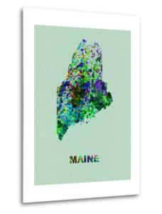 Maine Color Splatter Map by NaxArt