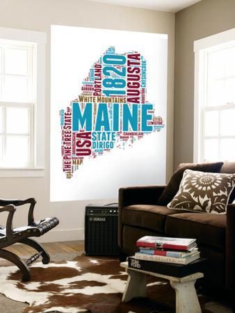 Maine Word Cloud Map