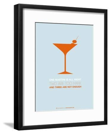 Martini Poster Orange