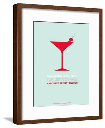 Martini Poster Red