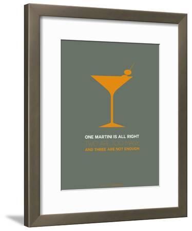 Martini Poster Yellow