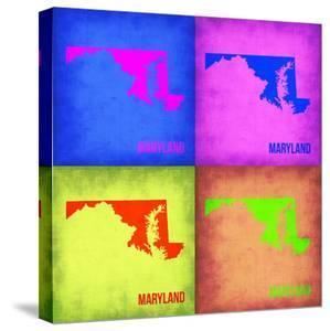 Maryland Pop Art Map 1 by NaxArt