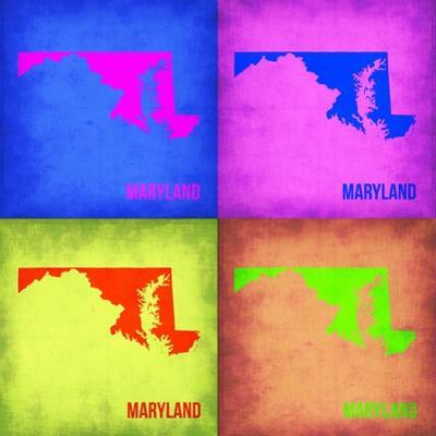 Maryland Pop Art Map 1 by NaxArt