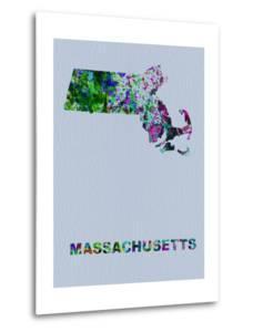 Massachusetts Color Splatter Map by NaxArt