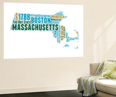 Massachusetts Word Cloud Map