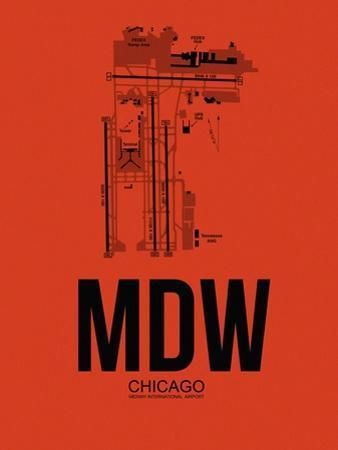 MDW Chicago Airport Orange by NaxArt